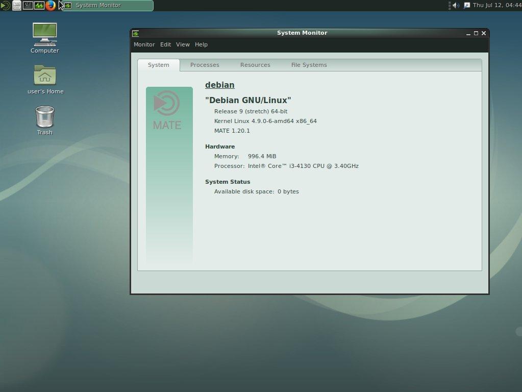Debian 9 mate GNU/Linux | terkeyberger